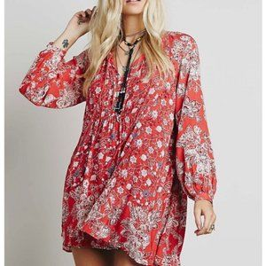 Free people Lucky Loosey Dress Boho floral